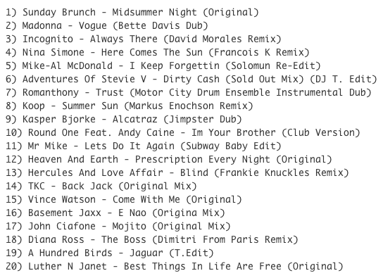 Subway Baby (Various)-Something For Your Mind, Body And Soul (Volume 5) TRACKLIST