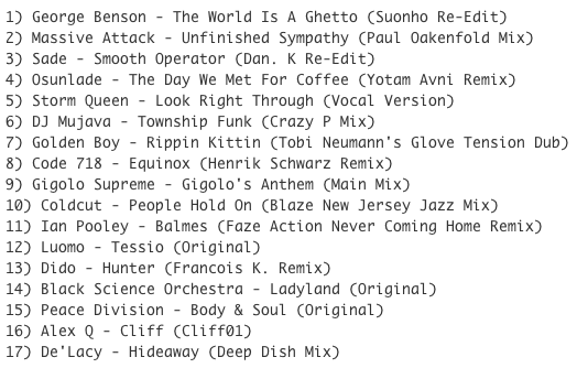 Subway Baby (Various)-Something For Your Mind, Body And Soul (Volume 6) TRACKLIST