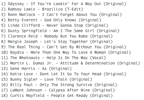 Subway Baby-The Private Soul Tape (Part 7) TRACKLIST