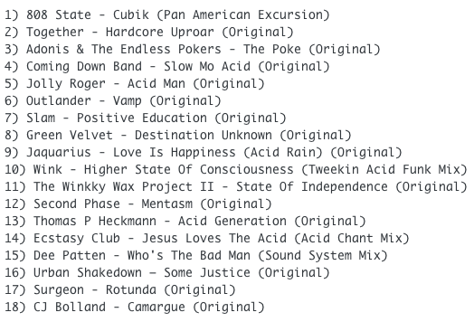 Subway Baby-Tweaks & Peaks (Session 19) TRACKLIST