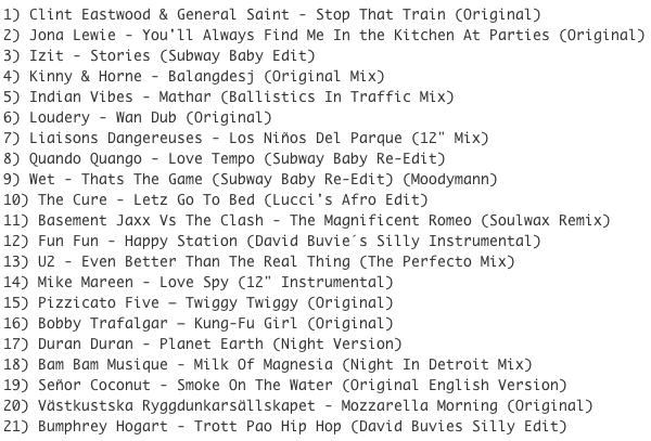 Subway Baby (Various)-Super Balla Erik (Mixtape 7) TRACKLIST