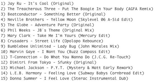 Subway Baby-Bump N Boogie (Mixtape 21) TRACKLIST