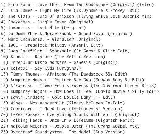 Subway Baby (Various)-Super Balla Erik (Mixtape 12) TRACKLIST