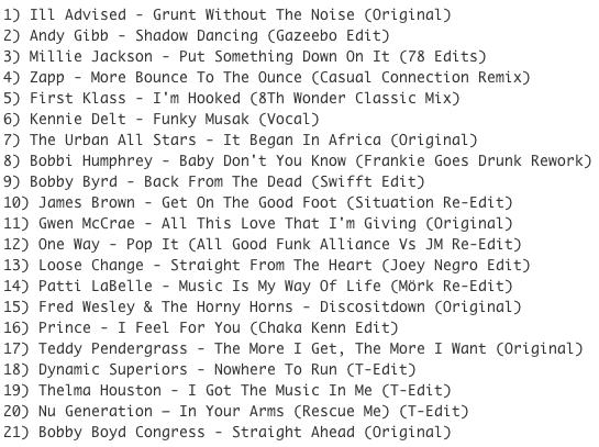 Subway Baby-Bump N Boogie (Mixtape 26) TRACKLIST