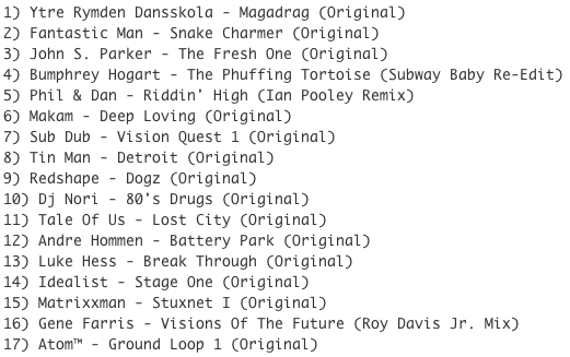 Subway Baby-Haus Your Buddy (Mixsession 19) TRACKLIST
