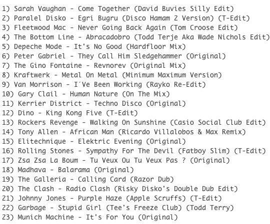 Subway Baby (Various)-Super Balla Erik (Mixtape 14) TRACKLIST