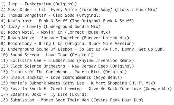Subway Baby-Tweaks & Peaks (Session 17) TRACKLIST