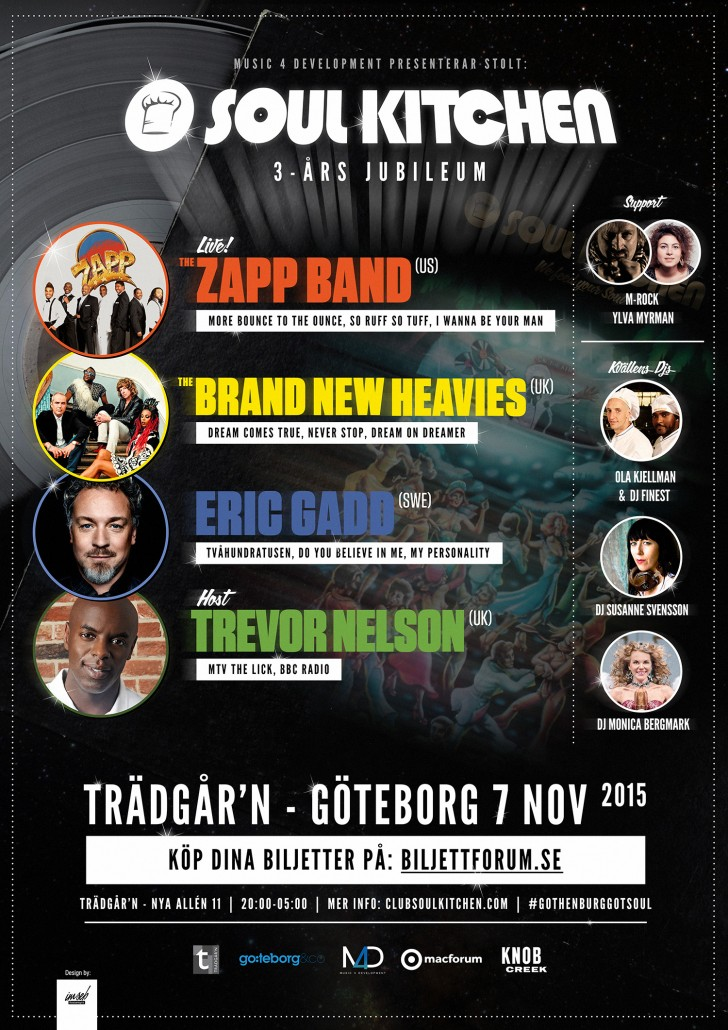 SOUL KITCHEN 3 YEAR ANNIVERSARY ZAPP BAND : BRAND NEW HEAVIES
