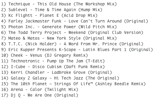 Subway Baby-Tweaks & Peaks (Session 18) TRACKLIST