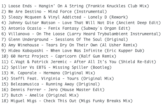 SUBWAY BABY - SOMETHING FOR YOUR MIND, BODY AND SOUL (VOLUME 8) TRACKLIST