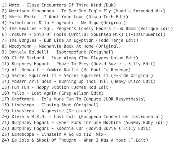 Subway Baby (Various)-Super Balla Erik (Mixtape 17) TRACKLIST