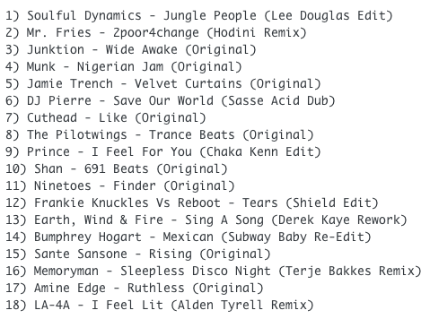 subway-baby-haus-your-buddy-mixsession-31-tracklist