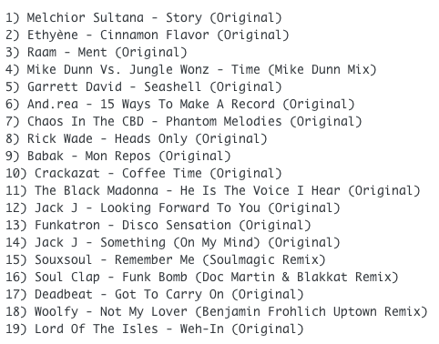 Subway Baby (Various)-Something For Your Mind, Body And Soul (Volume 10) TRACKLIST