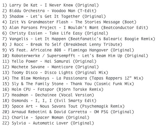 Subway Baby (Various)-Super Balla Erik (Mixtape 18) TRACKLIST